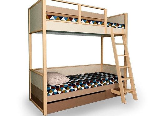 Кровать 2х-ярусная с лесенкой и ящиком выкатным. Робин Вуд
