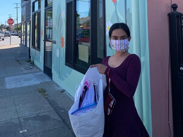 Divija at CCMP Oakland facility with masks