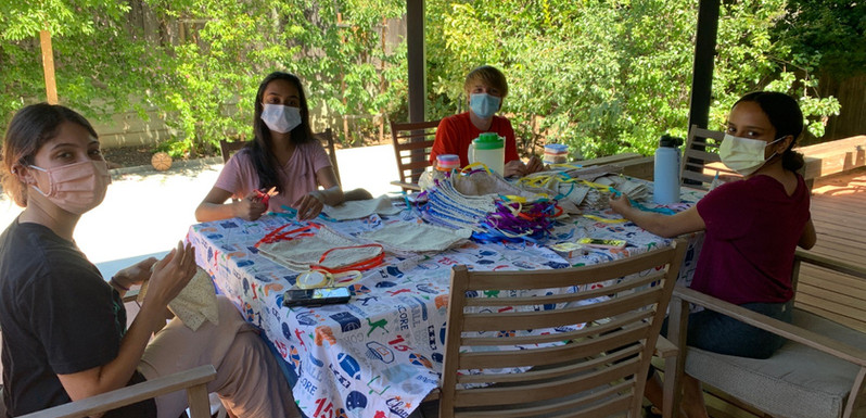 Finn, Aria, Hari & Divija - Mask Making Time!