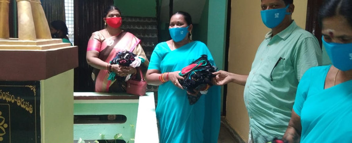 SHG members with masks initiative by DV - 3