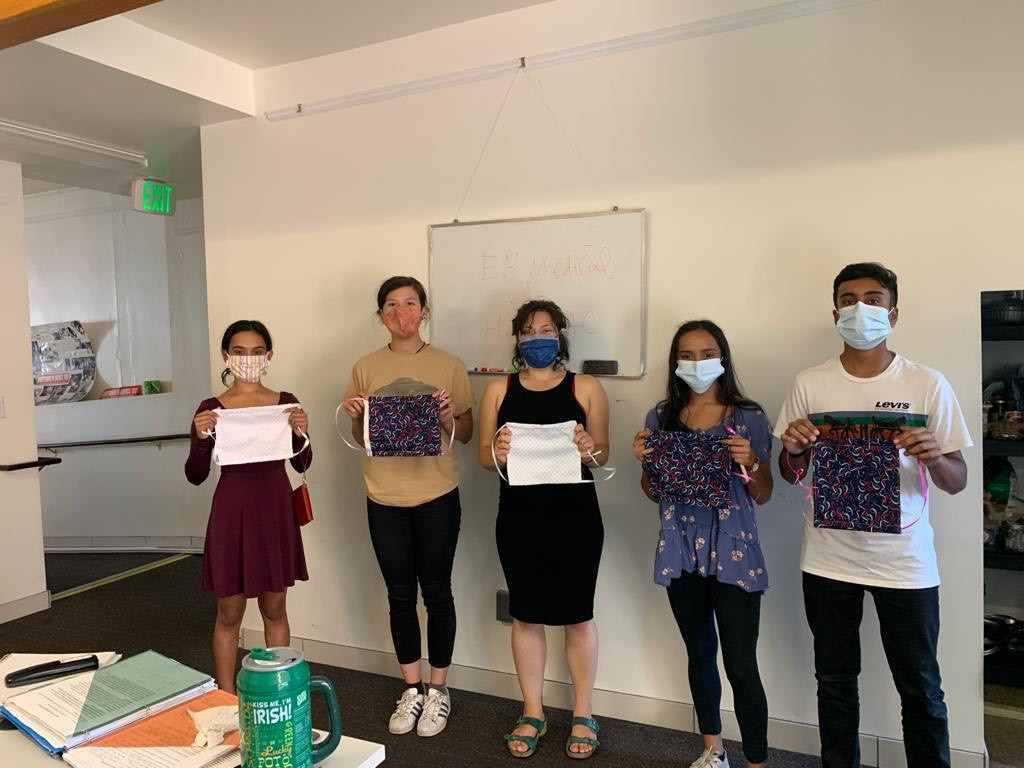Donating masks at CCMP