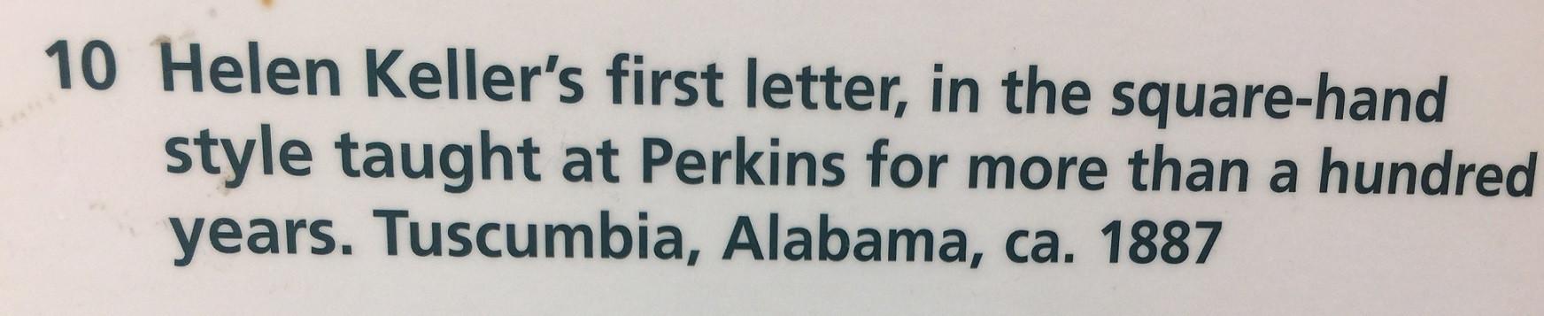 Perkins Visit