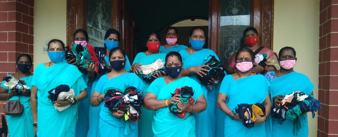 SHG members with masks initiative by DV - 1