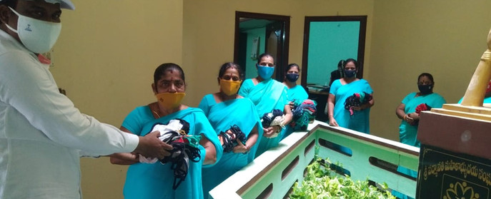 SHG members with masks initiative by DV - 5