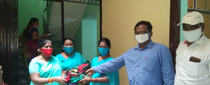 SHG members with masks initiative by DV - 6