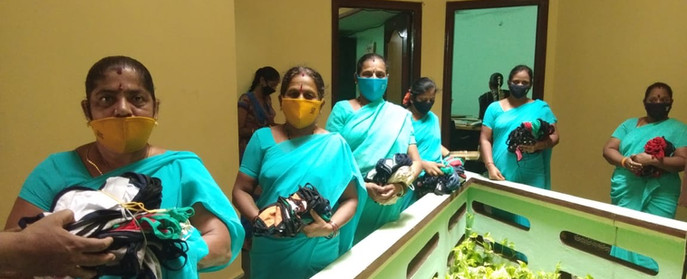 SHG members with masks initiative by DV - 2
