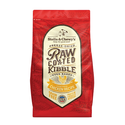 Stella & Chewy's Dog Raw Coated Kibble, Cage-Free Chicken, 3.5 Pounds