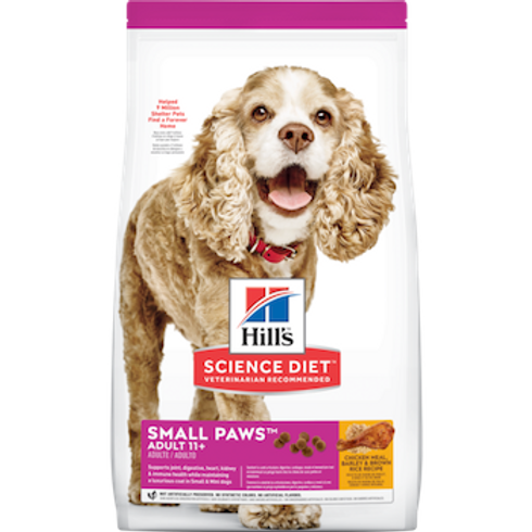 Hills Science Diet Adult 11+ Small Paws Chicken Meal, Barley  & Brown Rice