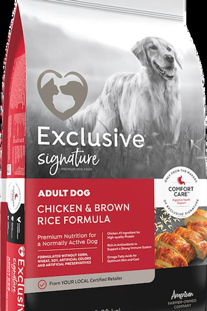Exclusive Senior Dog Chicken & Brown Rice Formula 30 lbs.