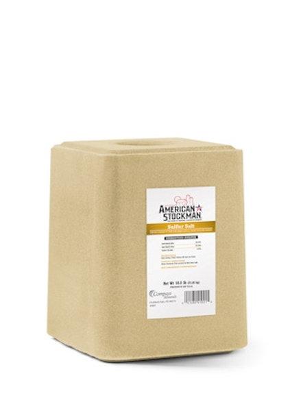 American Stockman Sulfur Salt Feed Block