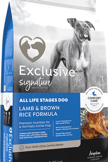 Exlusive Signature Premium Dog Food All Life Stages Lamb & Brown Rice