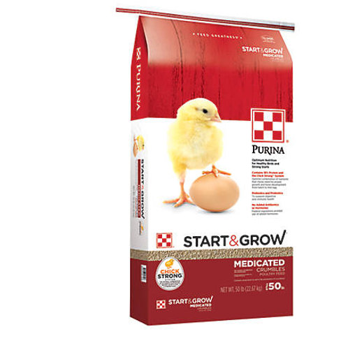 Purina Start & Grow Starter/Grower Medicated Feed Crumbles