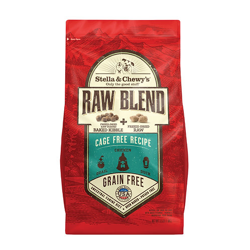 Stella & Chewy's Dog Raw Blend Kibble, Cage-Free Recipe, 3.5 Pounds