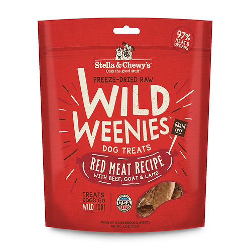 Stella & Chewy's Freeze-Dried Raw Red Meat Wild Weenies Dog Treats, 3.25 Ounces