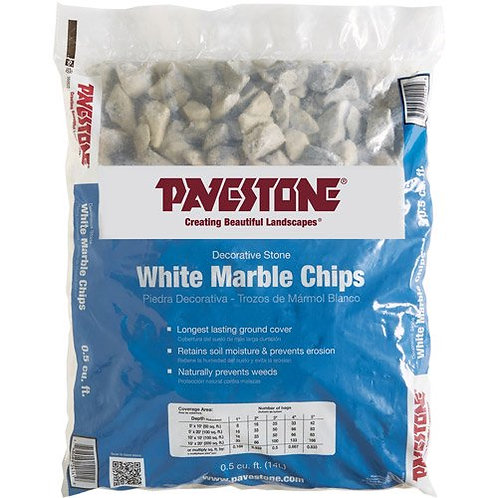 Pavestone White Marble Chips