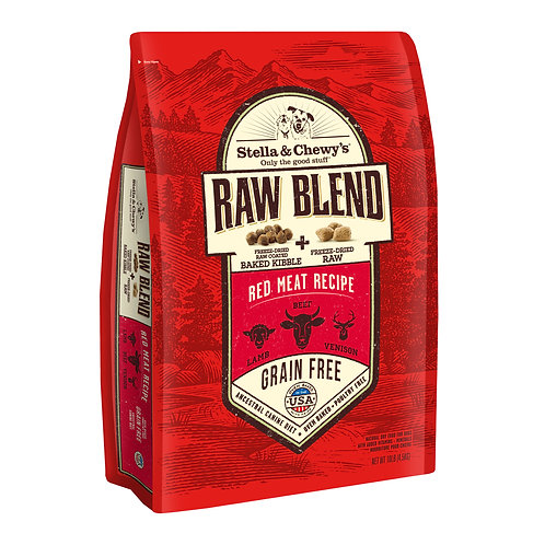 Stella & Chewy's Dog Raw Blend Kibble, Red Meat Recipe, 10 Pounds