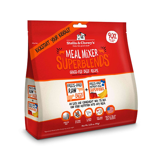 Stella & Chewy's Dog Freeze-Dried Raw, Beef Meal Mixer Superblends, 3.25 Ounces