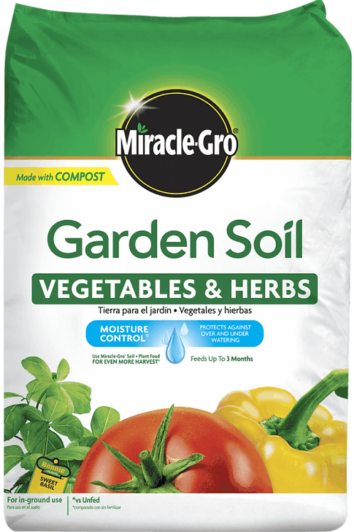 Miracle Gro Vegetables and Herbs Garden Soil