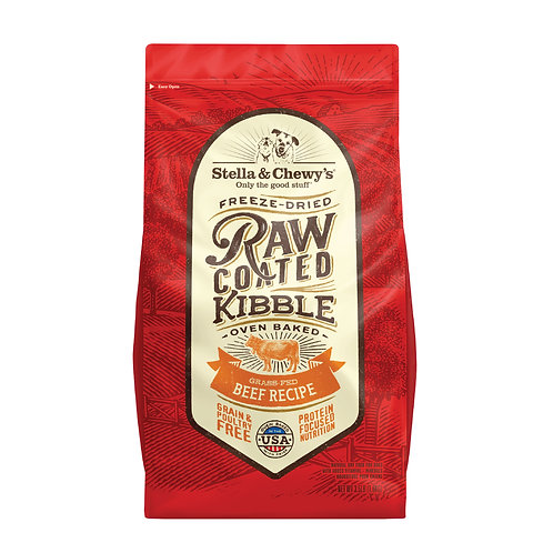 Stella & Chewy's Dog Raw Coated Kibble, Grass-Fed Beef, 3.5 Pounds