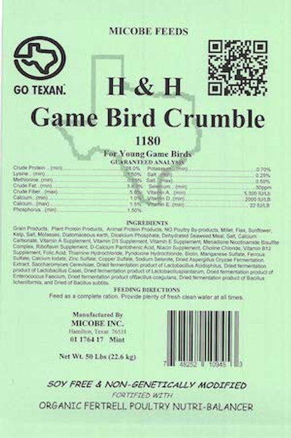 H and H Game Bird Crumble