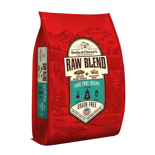 Stella & Chewy's Dog Raw Blend Kibble, Cage Free Recipe, 22 Pounds