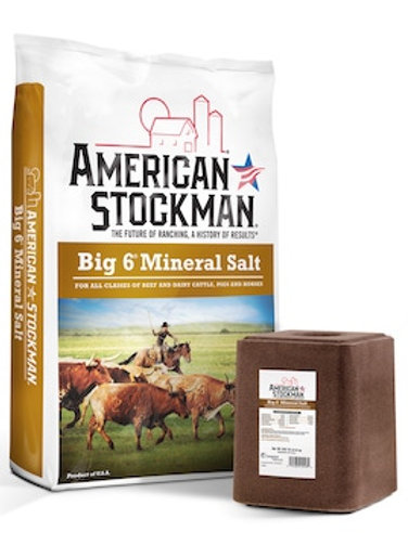 American Stockman Big 6 Mineral Salt Feed Block