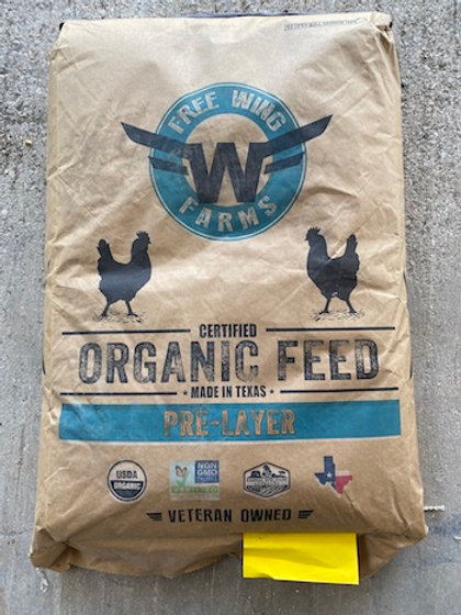 Free Wing Farms Organic Chicken Feed Pre-Layer