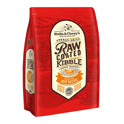 Stella & Chewy's Dog Raw Coated Kibble, Grass-Fed Beef, 10 Pounds