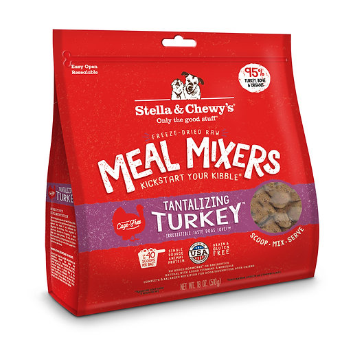 Stella & Chewy's Dog Freeze-Dried Raw, Tantalizing Turkey Meal Mixers, 18 Ounces