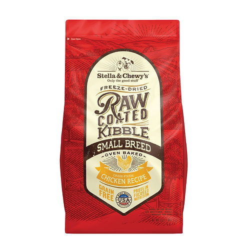 Stella & Chewy's Dog Raw Coated Kibble,Cage-Free Chicken Small Breeds,3.5 Pounds