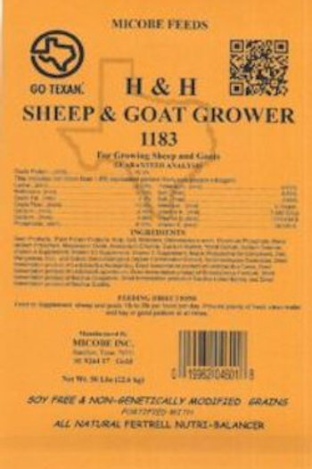 H and H Sheep & Goat Grower Feed