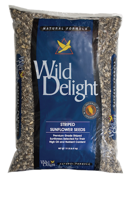 Wild Delight Striped Sunflower Seeds 20 lbs. or 5 lbs.