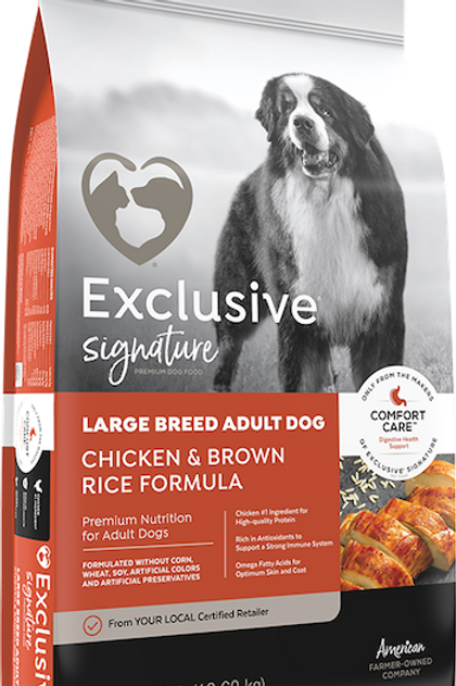 Exlusive Signature Premium Dog Food Large Breed Adult Chicken & Brown Rice