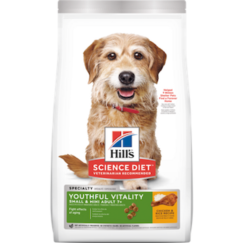 Hill's Bioactive Recipe Adult 7+ Small & Mini Youthful Vitality 3.5 lbs.