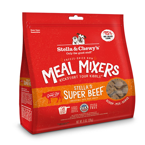 Stella & Chewy's Dog Freeze-Dried Raw, Super Beef Meal Mixers, 8 Ounces
