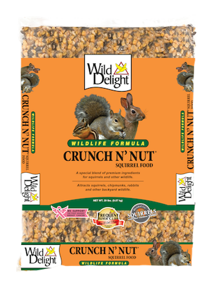 Wild Delight Crunch N' Nut Squirrel Food  20 lbs. or 8 lbs.
