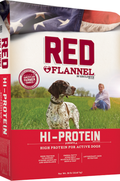 Exclusive Red Flannel Hi-Protein For Active Dogs 50 lbs.