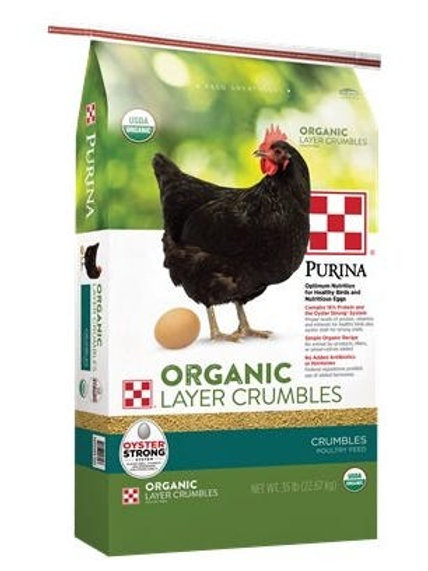 Purina Chicken Feed Organic Layer Crumbles