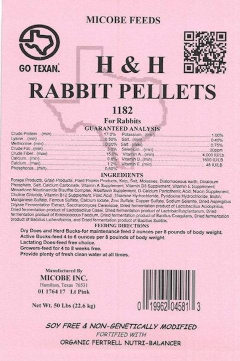 H & H Rabbit Pellet Feed