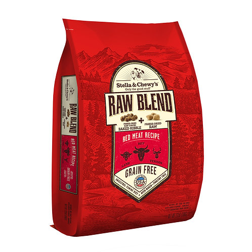 Stella & Chewy's Dog Raw Blend Kibble, Red Meat Recipe, 22 Pounds