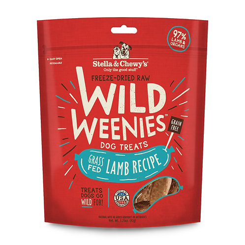 Stella & Chewy's Freeze-Dried Raw Lamb Wild Weenies Dog Treats, 3.25 Ounces