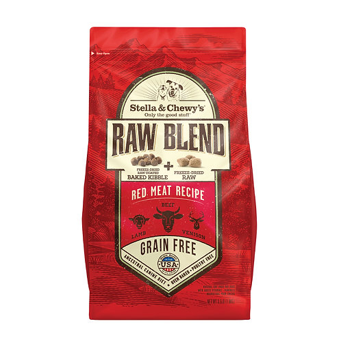Stella & Chewy's Dog Raw Blend Kibble, Red Meat Recipe, 3.5 Pounds