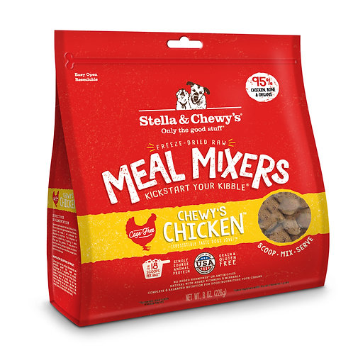 Stella & Chewy's Dog Freeze-Dried Raw, Chewy's Chicken Meal Mixers, 8 Ounces