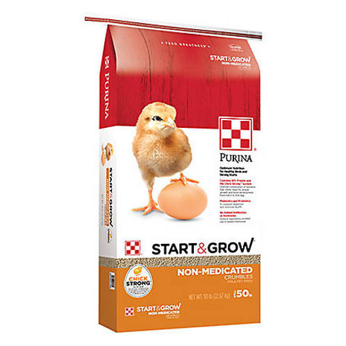 Purina Start & Grow Non-Medicated Feed Crumbles