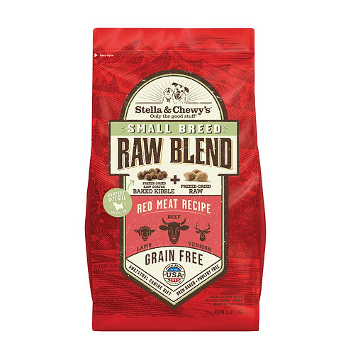 Stella & Chewy's Dog Raw Blend Kibble, Red Meat Recipe Small Breeds,3.5 Pounds