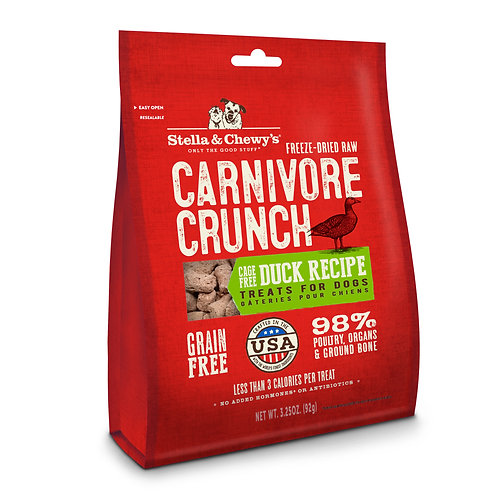 Stella & Chewy's Freeze-Dried Raw Carnivore Crunch Cage-Free Duck 3.25 Ounces