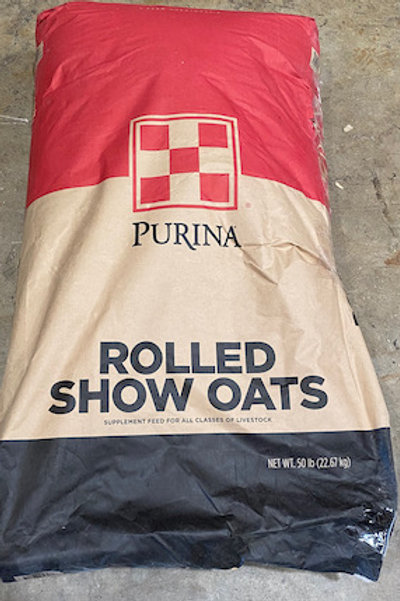 Purina Rolled Show Oats Feed