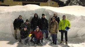 Der KGL- Vorstand beim Eisstock-Schiessen