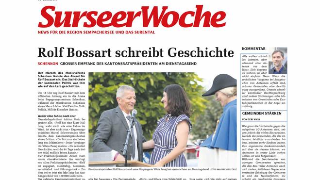 """Rolf Bossart schreibt Geschichte"""