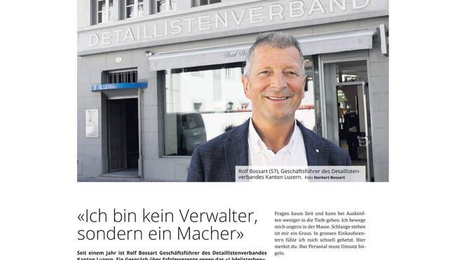 Interview Rolf Bossart als Geschäftsführer des Detaillistenverbandes des Kanton Luzern.
